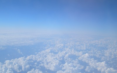 Sky from airplane